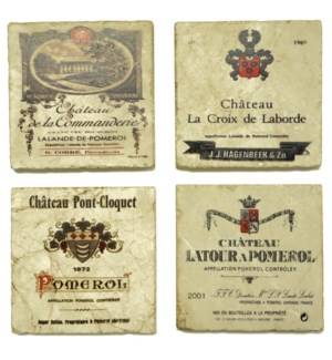 Pomerol Series Set/4 Coasters