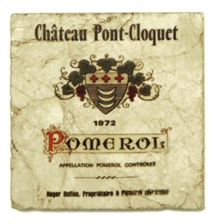 PONT-CLOQUET Set/4 Marble Coasters 4x4 in