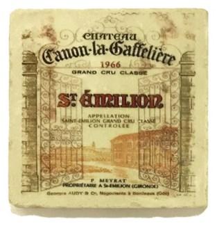 CANON LA GAFFELIERE Set/4 Marble Coasters 4x4 in