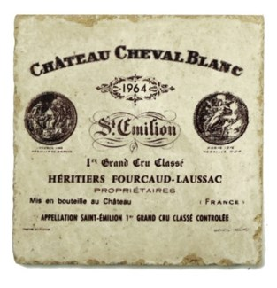 CHEVAL BLANC Set/4 Marble Coasters 4x4 in