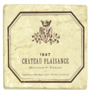 CHATEAU PLAISANCE Set/4 Marble Coasters 4x4 in.