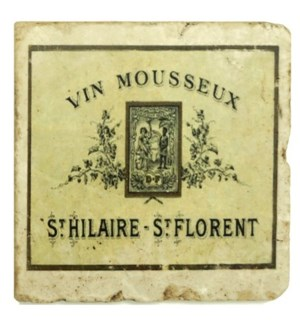 VIN MOUSSEUX Set/4 Coasters