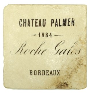 CHATEAU PALMER Set/4 Marble Coasters 4x4 in.