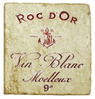 ROC DOR Set/4 Marble Coasters 4x4 in.