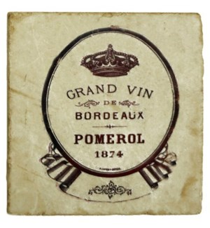 GRAND VIN POMEROL Set/4 Coaste