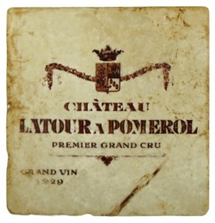 LATOUR A POMEROL Set/4 Marble Coasters 4x4 in.