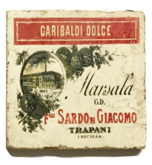 GARIBALDI DOLCE Set/4 Marble Coasters 4x4 in