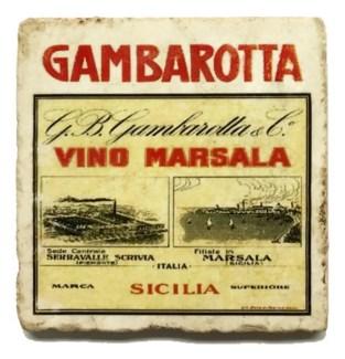 GAMBAROTTA Set/4 Marble Coasters 4x4 in