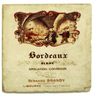 BORDEAU BLANC Set/4 Marble Coasters 4x4 in