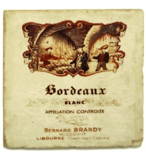 BORDEAU BLANC Set/4 Coasters