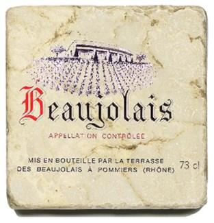 BEAUJOLAIS NOUV. Set/4 Marble Coasters 4x4 in