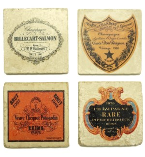 Champagne 1 Set/4 Coasters