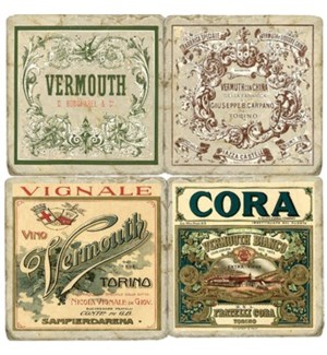 Vermouth Series Set/4 Coasters