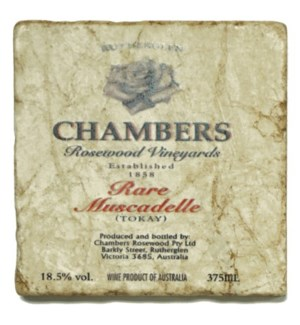 CHAMBERS Set/4 Marble Coasters 4x4 in.