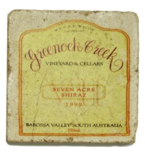 GREENOCK CREEK Set/4 Marble Coasters 4x4 in.
