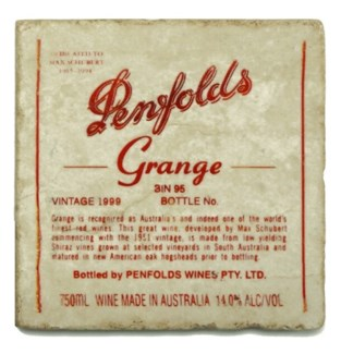 PENFOLDS Set/4 Marble Coasters 4x4 in.