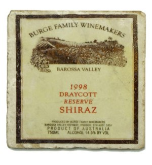 BURGE FAMILY Set/4 Marble Coasters 4x4 in.