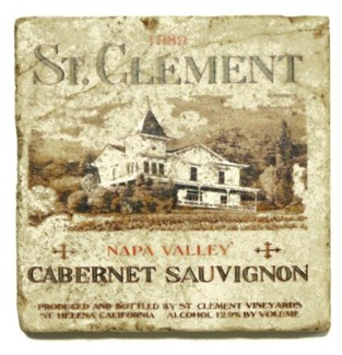 ST.CLEMENT Set/4 Marble Coasters 4x4 in.