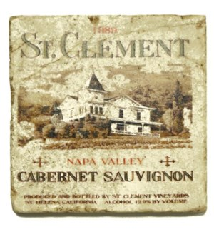 ST.CLEMENT Set/4 Coasters