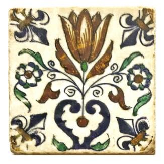 Dutch Blooming Tulip Set/4, Marble Coasters 4x4 in.