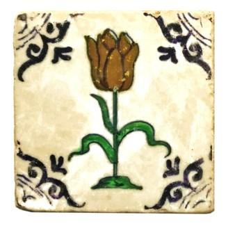 Dutch Tri Tulip Set/4, Marble Coasters 4x4 in