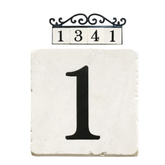 Stone 4x4 in. Home Address number - 1