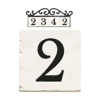 Stone 4x4 in. Home Address number - 2
