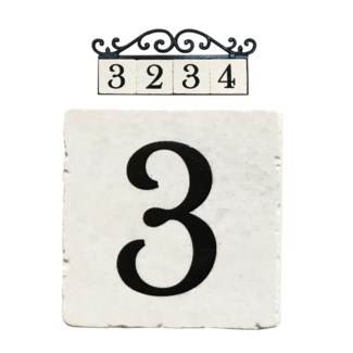 Stone 4x4 in. Home Address number - 3
