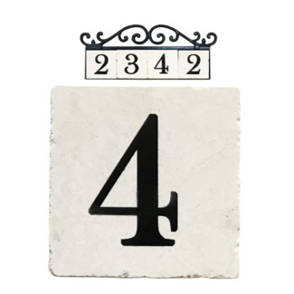 Stone 4x4 in. Home Address number - 4