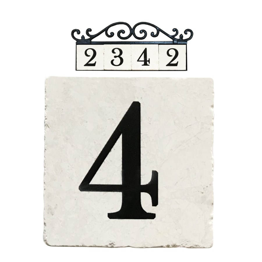 Edea Stone 4x4 in. Home Adress Number - 4