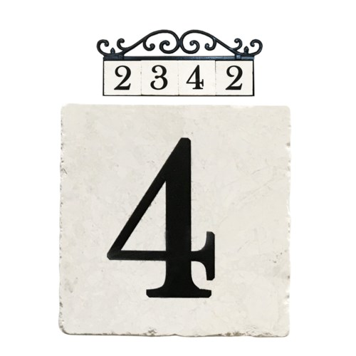 Stone 4x4 in. Home Adress Number - 4