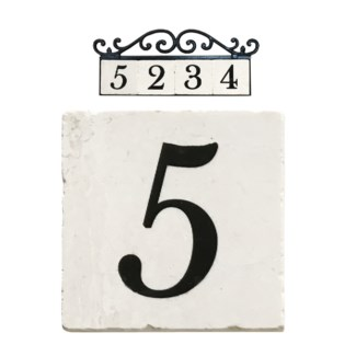 Stone 4x4 in. Home Address number - 5