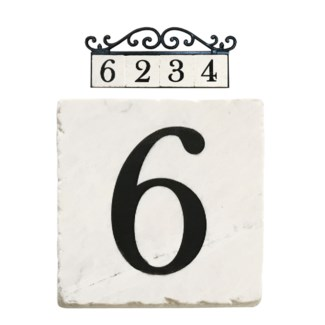 Stone 4x4 in. Home Address number - 6