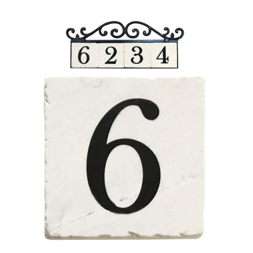 Stone 4x4 in. Home Adress Number - 6