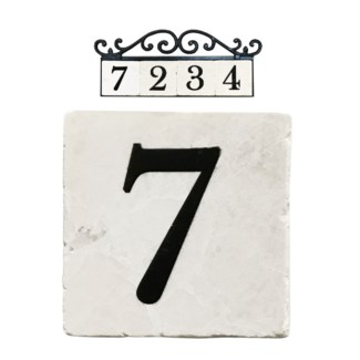 Stone 4x4 in. Home Address number - 7