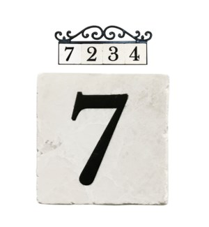 Edea Stone 4x4 in. Home Adress Number - 7