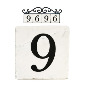 Stone 4x4 in. Home Address number - 9