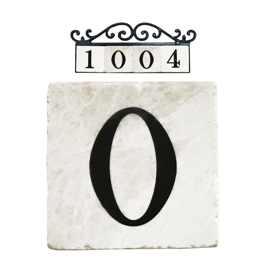 Edea Stone 4x4 in. Home Adress Number - 0