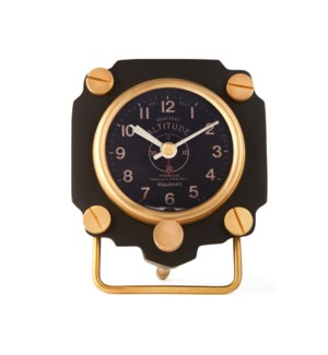 Altimeter Alarm Clock Black