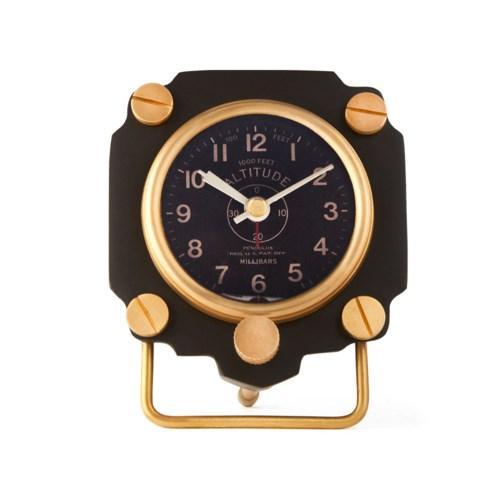 Altimeter Alarm Clock Black