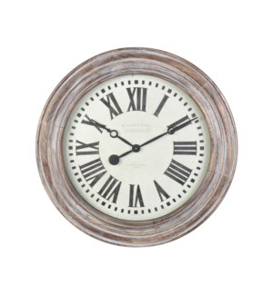 Benjamin Wall Clock Gray Wood