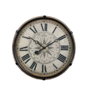 Compass Wall Clock Black Large
