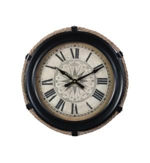 Compass Wall Clock Black Small