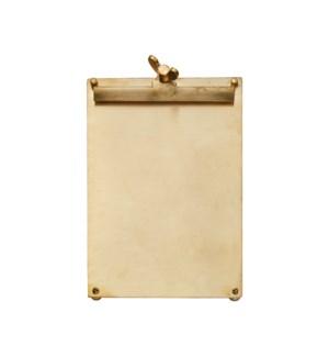 Scribner Notepad Brass Large
