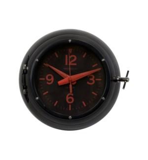 Deep Sea Wall Clock Black