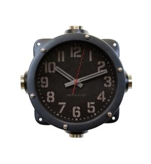 Navy Master Wall Clock Black