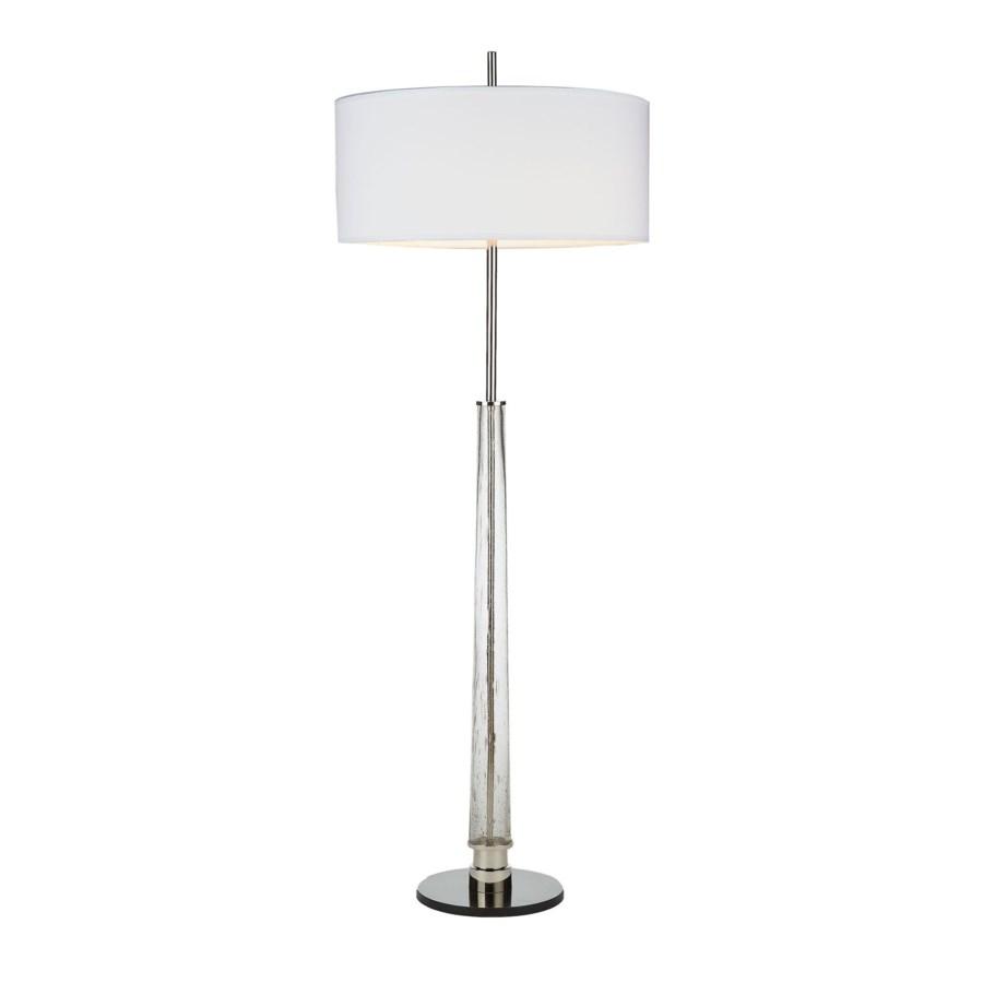 Hudson Floor Lamp Nickel