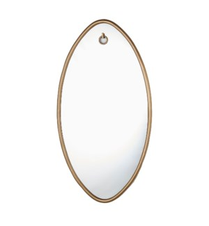 Ellipse Mirror Oval Ant Brass
