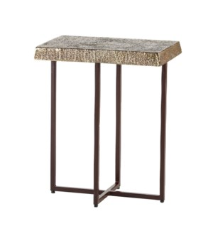 Hemp Accent Table Ant Brass