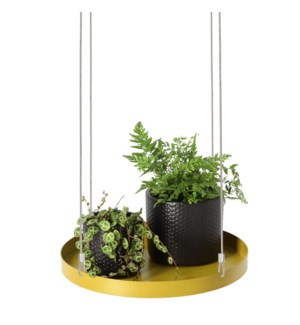 Plant tray hanging round gold L
